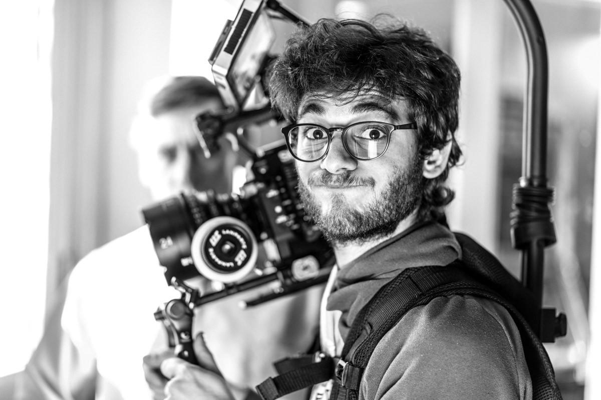 DOP Alessandro Oliveri on set.
