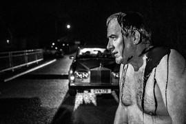 Peter McManus on the night shoot.