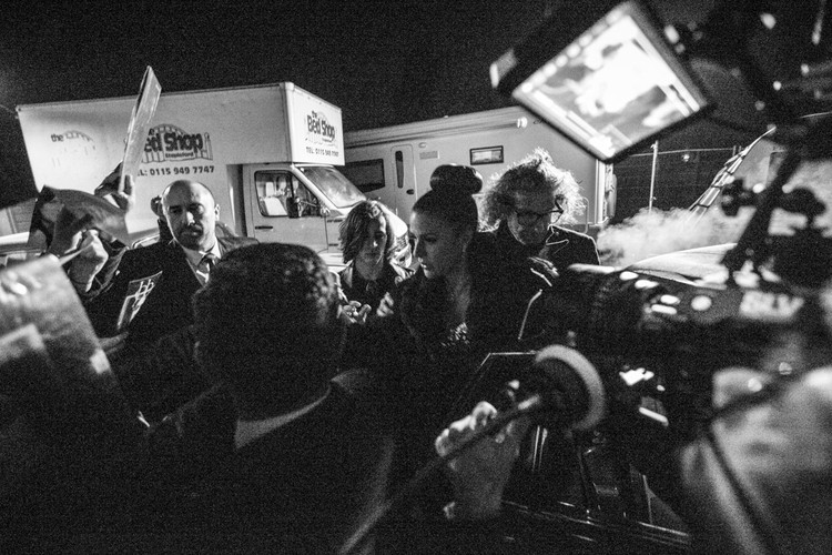 The crowd on the night shoot.