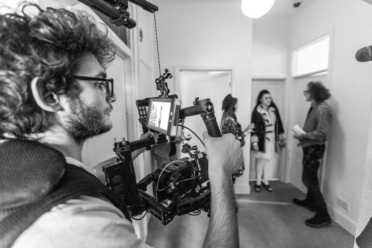 DOP Alessandro Oliveri on set in Loughborough
