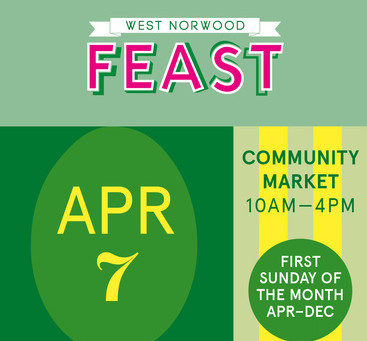 FEAST is back Sunday 7th April 10am - 4pm. Help make every Feast waste free!