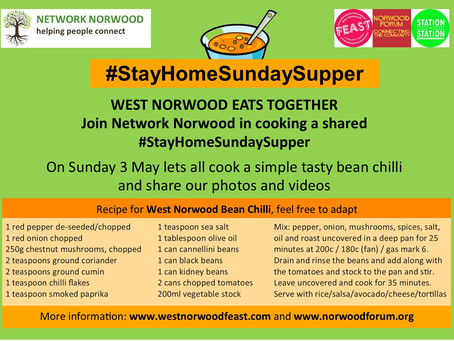 Stay at Home Sunday Supper 3rd May 2020