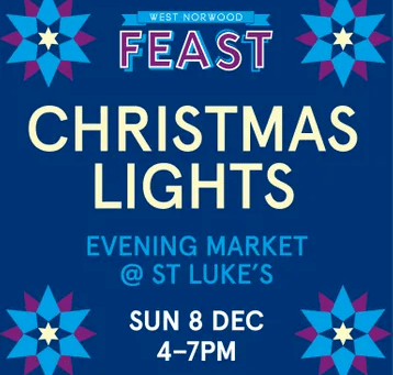 West Norwood Christmas Lights switch-on Sunday 7th December 4-7pm