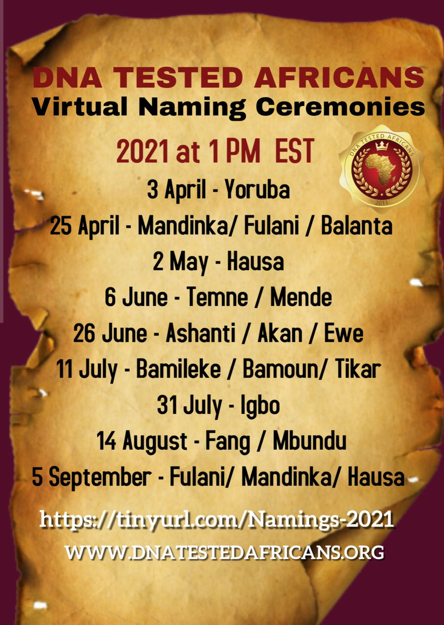 Latest Ancestral Naming Ceremony Dates