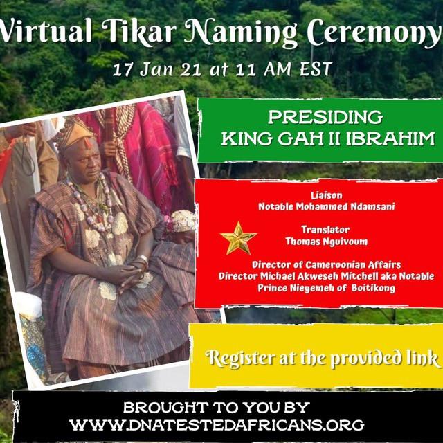 Ancestral Naming Ceremonies for 1st Quarter 2021