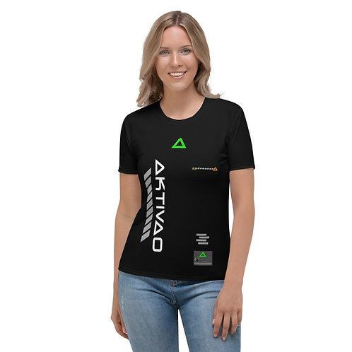AKTIVAO-Black Women's T-shirt