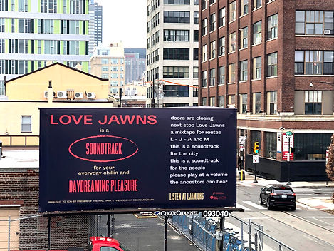 billboard with poetry on it