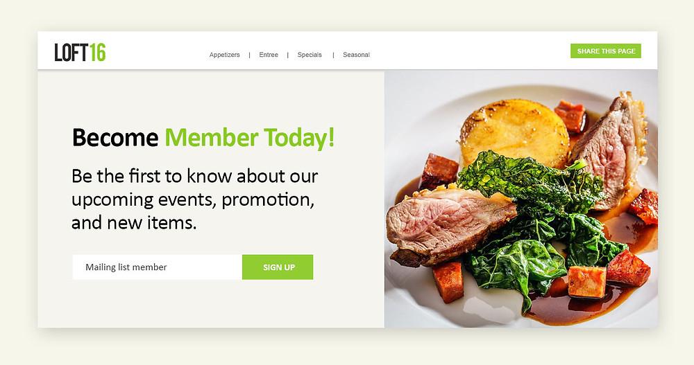 Loft16 Brand Management for your restaurant
