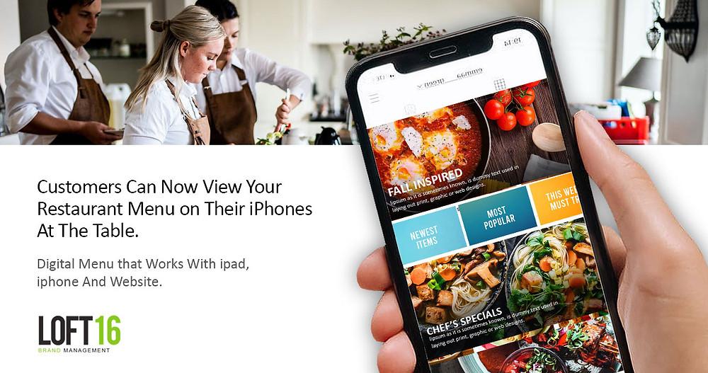 Loft16 Digital menu design service