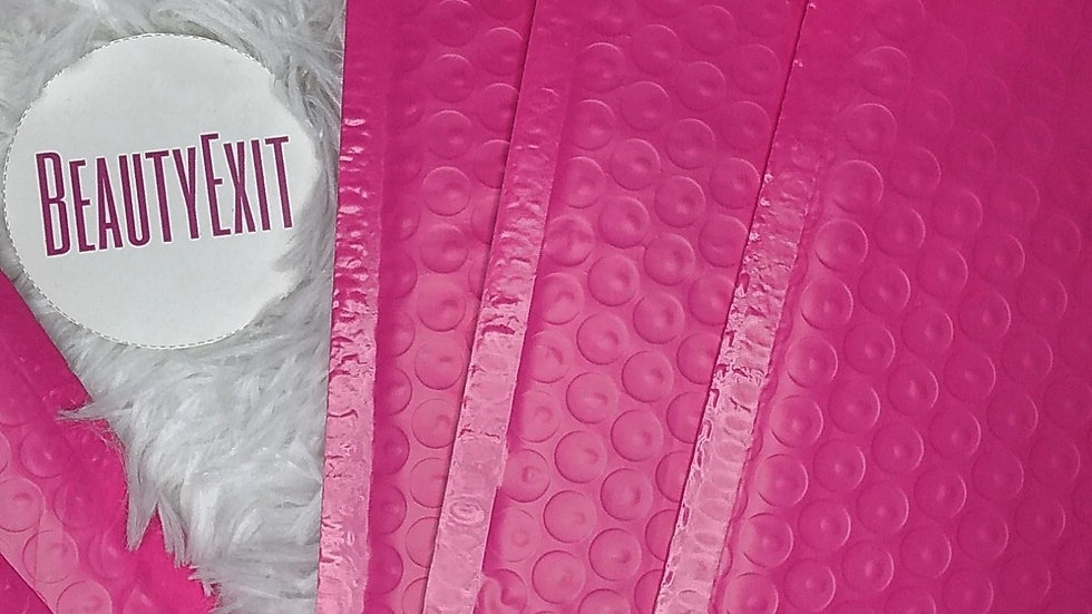 Hot Pink Bubble Mailers (4x8)