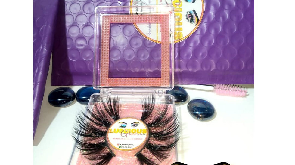 25MM Lashes with Lash Brush