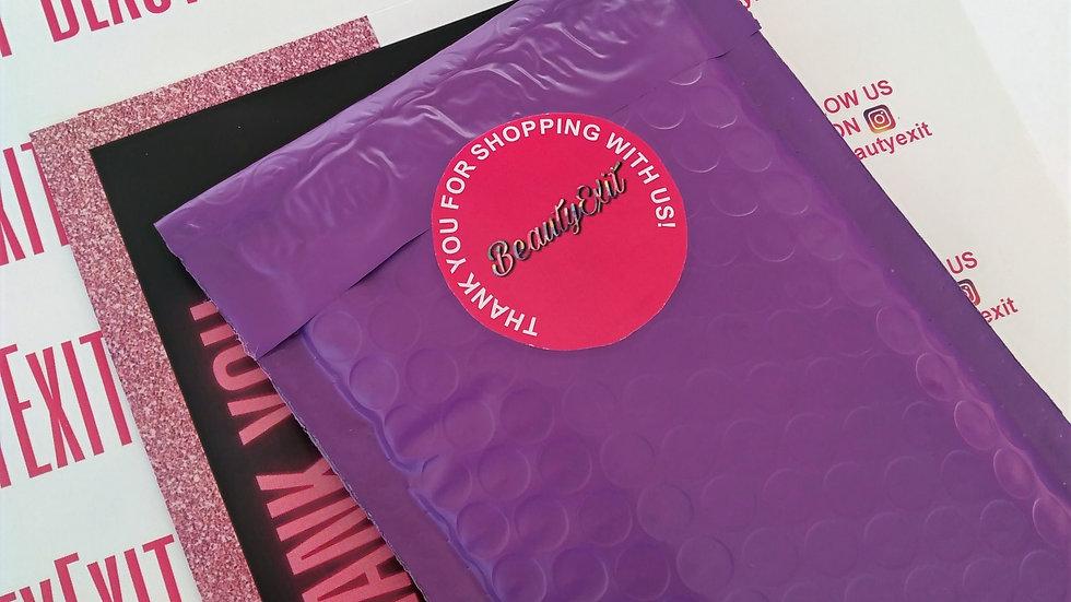 10 Purple Bubble Mailers (4x8)