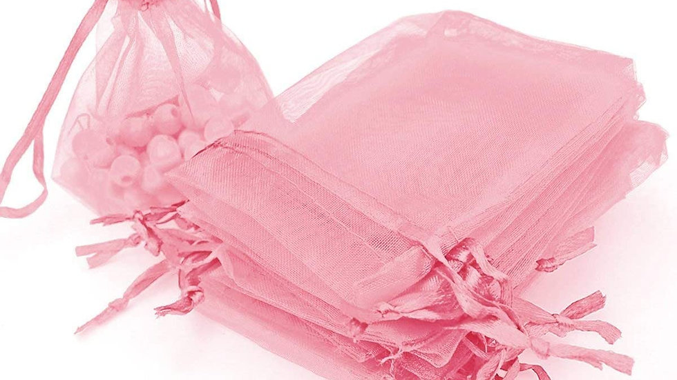 10 Light Pink Organza Bags (4x6)