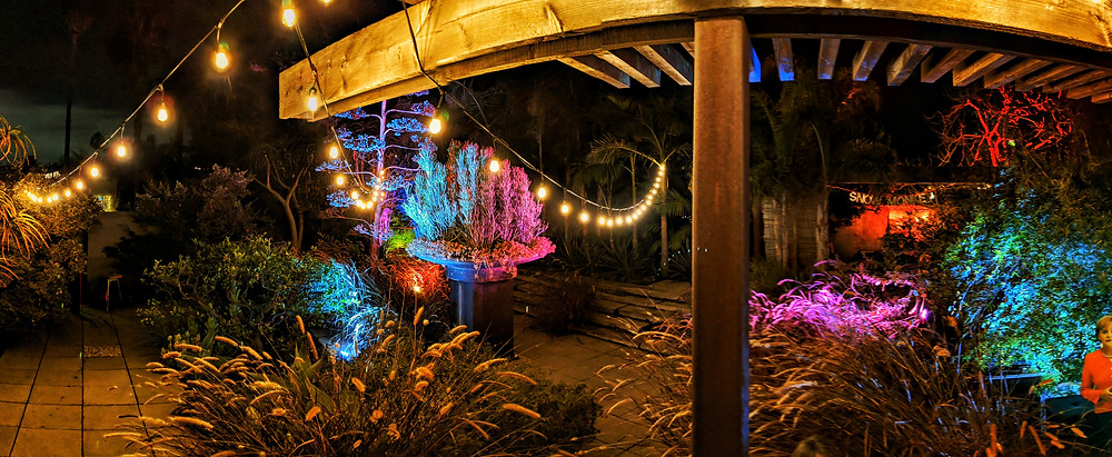 stringlights and uplighting for events from Elysian Sound and Light