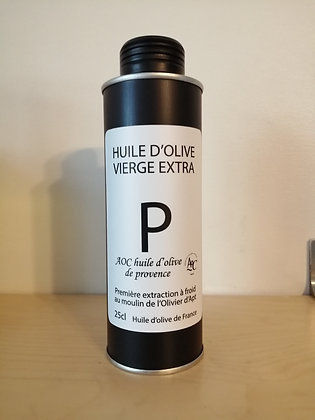 Huile d'olive vierge extra AOP 25 cl