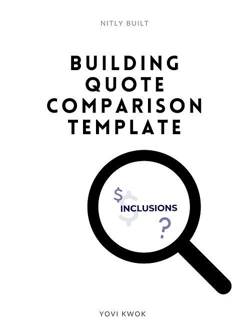 Building Quote Template Comparison