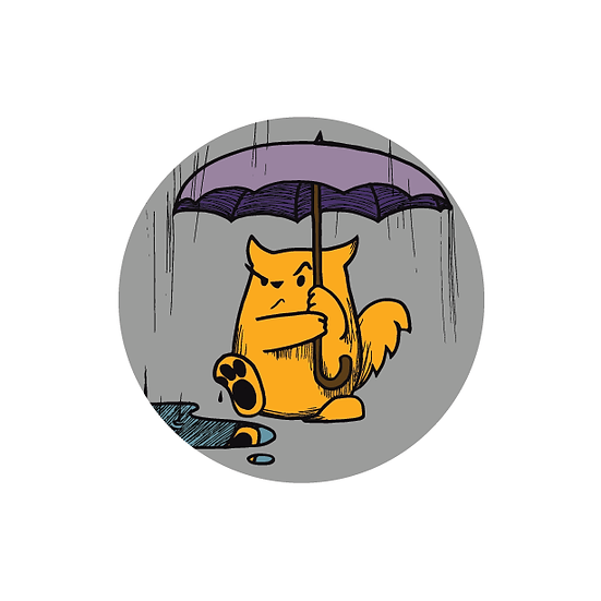 Rain Cat button