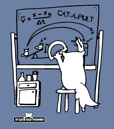 Catapult Cat T-shirt - unisex