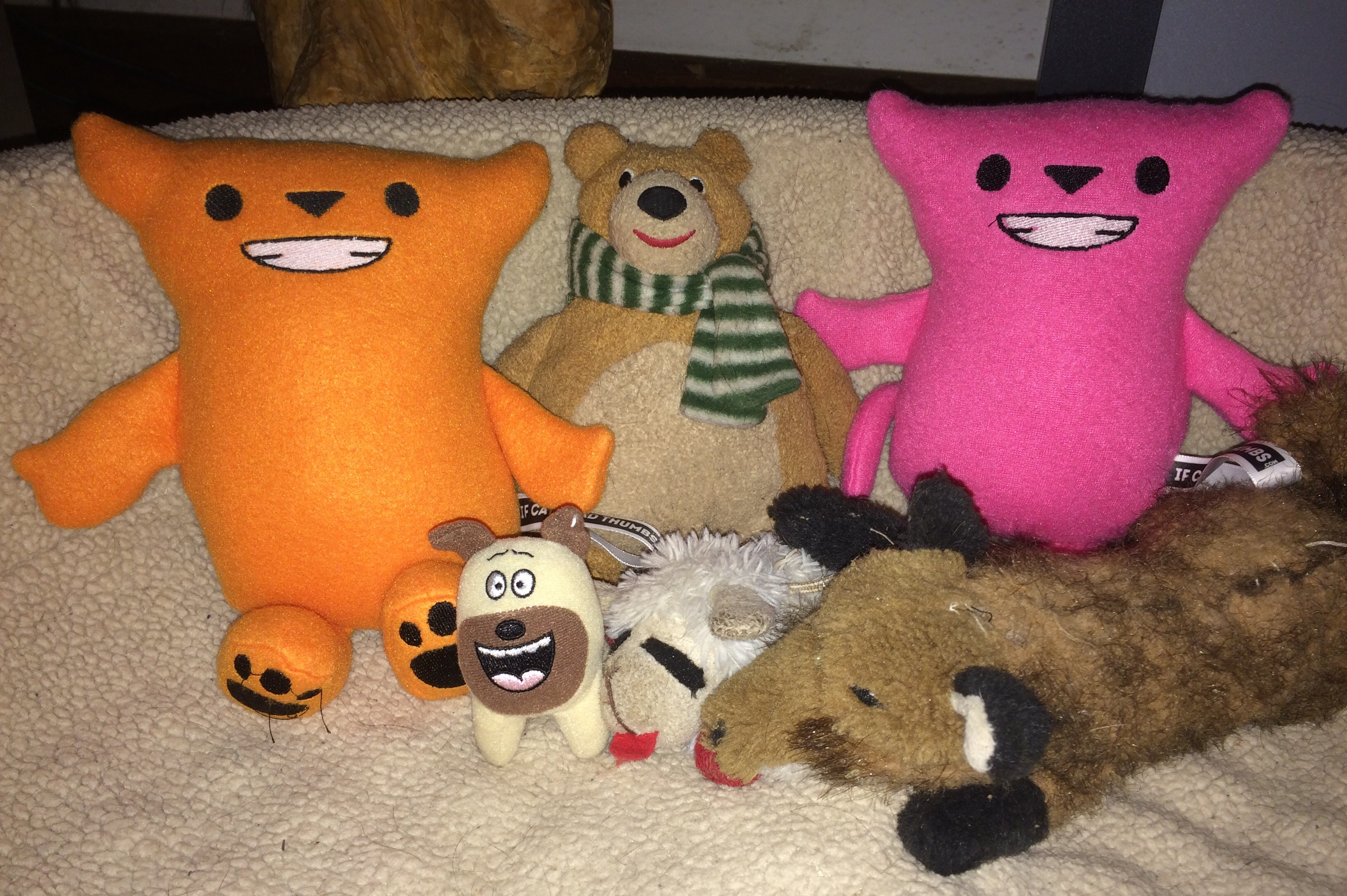Benito and Pinkie with friends