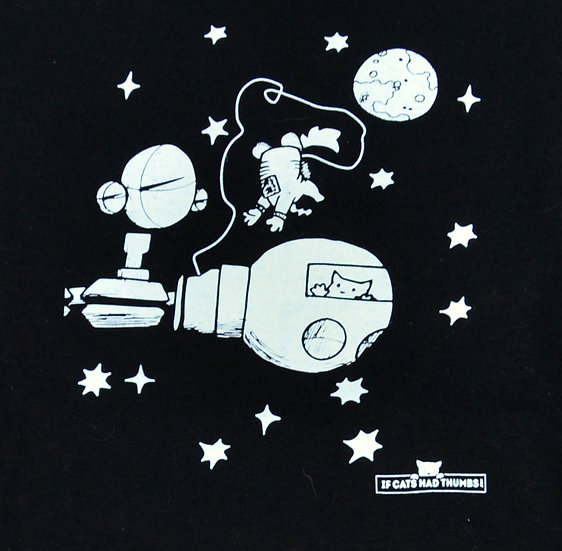 "T-shirt ""Astro Cat"" available in youth and adult"