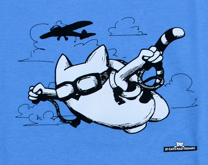 "T-shirt ""Sky Dive Cat"""