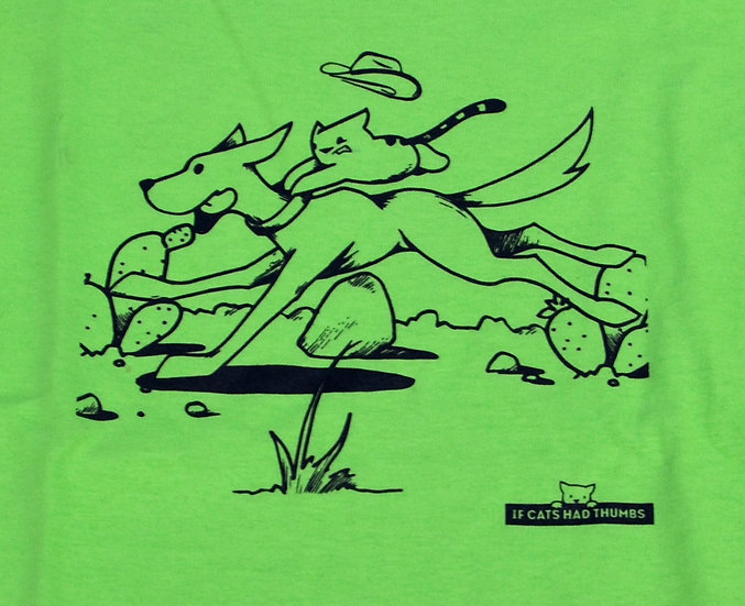 "T-shirt: ""Cowboy Cat"" - Youth"