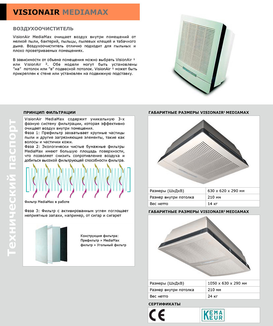 Воздухоочиститель VisionAir MediaMax