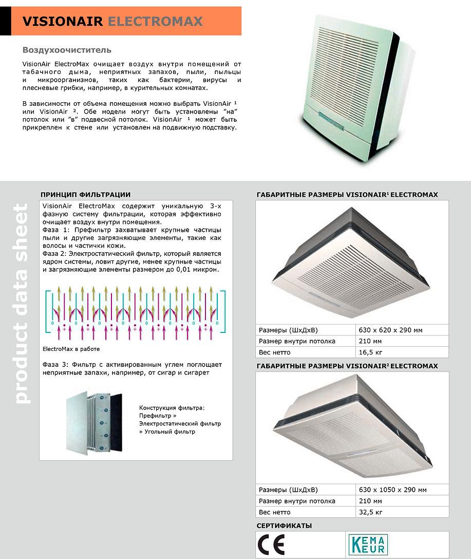 Воздухоочиститель VisionAir ElectroMax