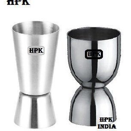 HPK OFFICER CHOICE DOUBLE SIDED PEG MEASURE GLASS TWIN PACK