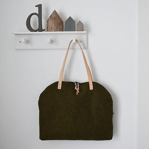 Tamerice  TAPP - borsa in tessuto da tappezzeria colore verdone