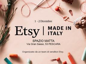 Ritorna a Pescara Etsy Made in Italy: il pop up market dell'handmade e della creatività.
