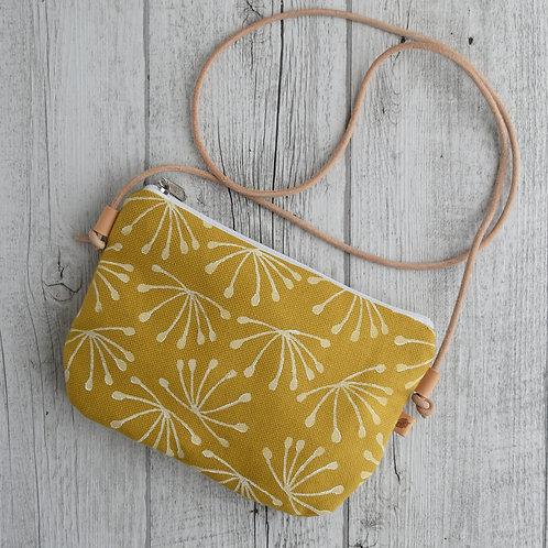 Tracollina Cordiline in tessuto giallo stampato a mano - ANETO