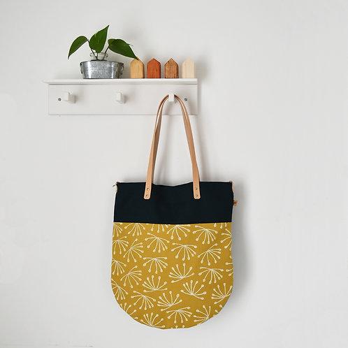 Ginestra shopper bag, borsa in tessuto stampato a mano - ANETO