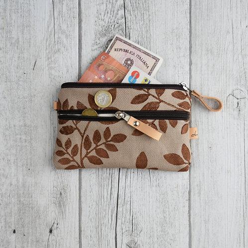 FICUS portafoglio in tessuto corda stampato a mano - Foliage