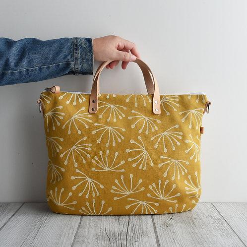 FLOX  Borsa a mano in tessuto giallo stampato a mano - ANETO