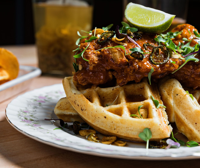 Red Curry Fried Chicken & Waffle