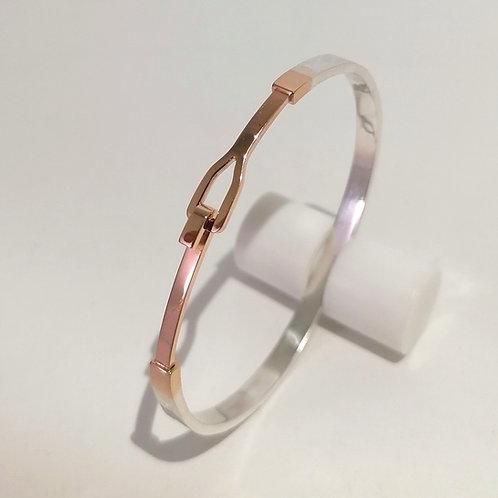 Bracelet Lili or rouge 18 kt et argent