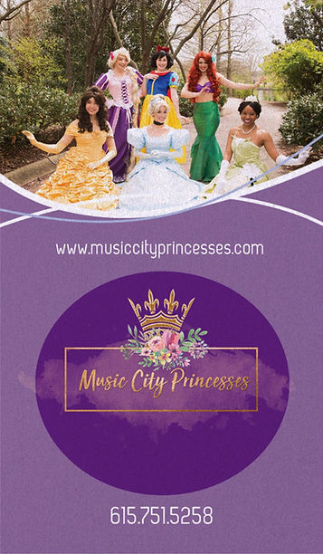Nashville Music City Princesses for kid party entertainmet