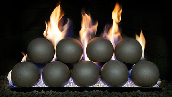 "Peterson Real Fyre 4"" Fyre Spheres Epic Black with 18"" burner"