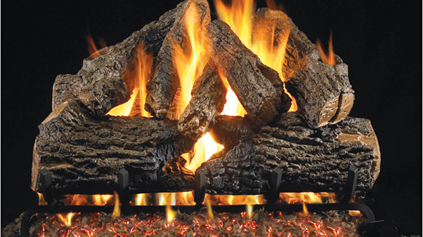 "Real Fyre 18"" Charred Oak Vented Gas Log Set & G4 burner system"