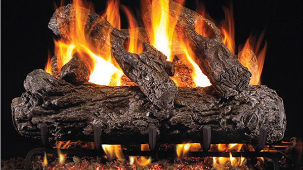 "Real Fyre 18"" Rustic Oak Vented Gas Log Set & G4 burner system"