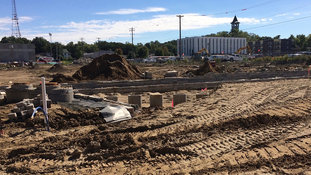Surface grading in-process - Monday 09/19/2016