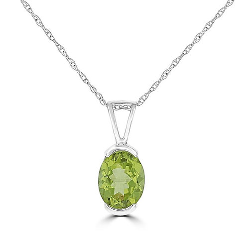 Empire Collection Oval Peridot Necklace