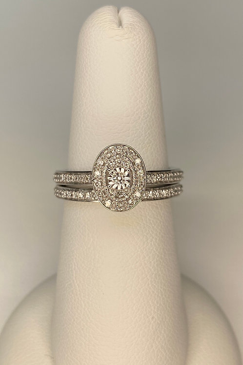 Miracle Head Engagement Ring Set