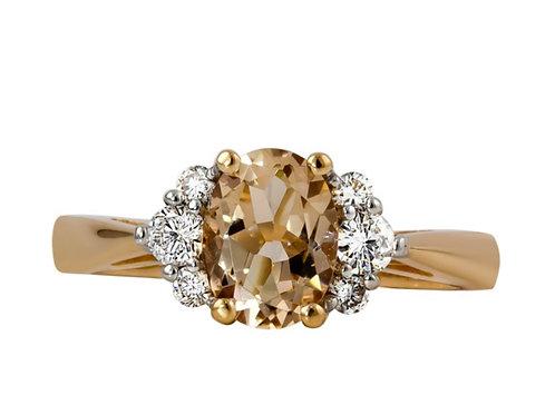 Rego Morganite Rose Gold Ring