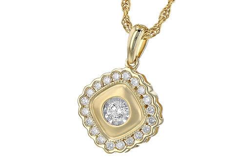 Allison Kaufman YG Diamond Pendant