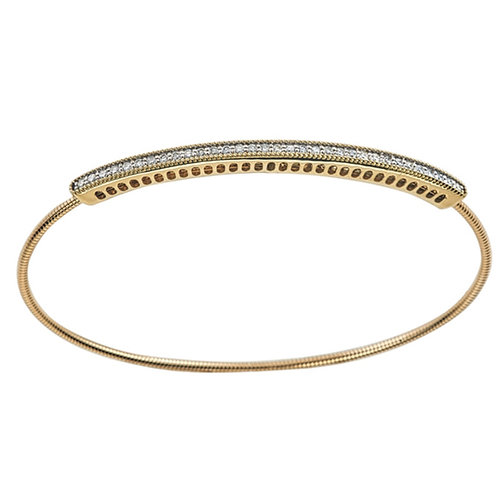 Expandable 14k YG Diamond Bracelet