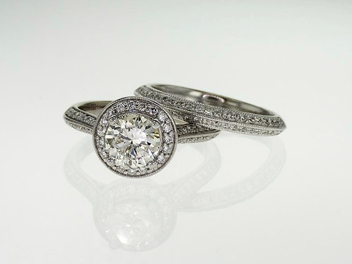 APEX Halo Diamond Engagement Ring Set