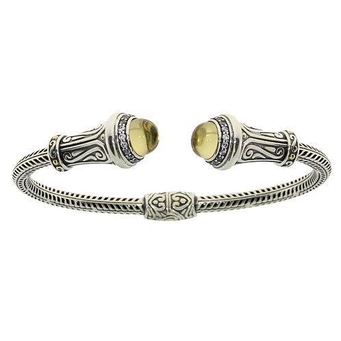 Sterling CAB Citrine Bracelet