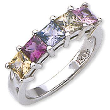 Sapphire Multi-Colored Ring